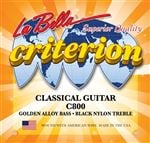 La Bella C800 Criterion Black/Nylon Gold Alloy Classical Acoustic Guitar Strings