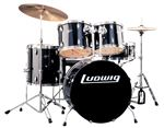Ludwig Accent Drive 5 Piece Complete Drum Set Black