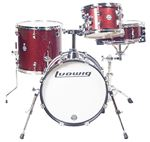 Ludwig Breakbeats Questlove 4 Piece Shell Kit Drum Set Red Sparkle