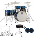 Mapex Armory Studioease 6 Pc Fast Size Drum Set Photon Blue Kick Port