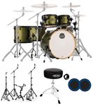 Mapex Armory Studioease 6 Pc Fast Size Drum Set Mantis Green Kick Port
