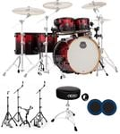 Mapex Armory Studioease 6 Piece Fast Size Drum Set Magma Red Kick Port