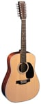 Martin D1228 12 String Acoustic Guitar Natural with Case