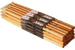 On Stage American Hickory 5B Wood Drum Sticks