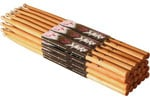 On Stage American Hickory 7A Wood Drum Sticks