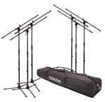 On Stage MSP7706 6 Pack of Euroboom Microphone Stands with Bag