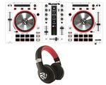 Numark MixTrack Pro 3 USB DJ Controller in White with HF350 Headphones