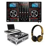 Numark NVII DJ Controller with Case and Beats Gold