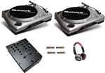 Numark Turntable DJ Package with Turntables Mixer Cables Headphones