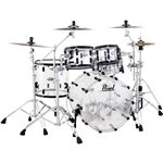 Pearl Crystal Beat 4Pc ShelKit Ultra Clear/Blk Hdw