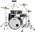 Pearl Decade Maple 5Pc Shell Kit Black Ice With Free D50 Drum Throne