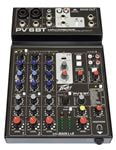 Peavey PV6 BT 6 Channel Stereo Mixer with Compression and Bluetooth
