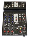 Peavey PV6 6 Channel Stereo Mixer with Compression and USB Out and In