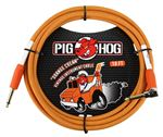 Pig Hog 10Ft Orange Creme Instrument Cable with One Right Angle