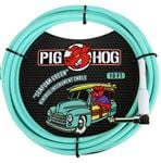 Pig Hog 10Ft Seafoam Green Instrument Cable with Angled Ends