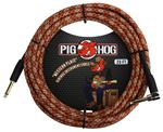 Pig Hog PCH20CPR Western Plaid Instrument Cable 20 foot Right Angle
