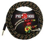 Pig Hog 20Ft Rasta Stripes Instrument Cable with Angled Ends