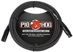 Pig Hog Black and White Woven Microphone Cable