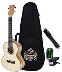 Pukanala PU-SSPT Solid Spruce Top Tenor Ukulele with Case