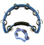 Rhythm Tech 1030 With Tab Mini Tambourine Blue PAK