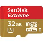 SanDisk Extreme 32GB microSDHC UHS 1 Card with Adapter