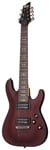 Schecter Omen 7 7 String Electric Guitar Walnut Satin