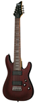 Schecter Omen 8 8 String Electric Guitar Walnut Satin
