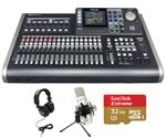 Tascam DP-24SD 24-Track Digital Portastudio Complete Recording Package