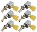 Tronical 3x3 Electric Guitar Tulip Tuners - Chrome Marble