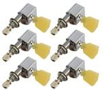 Tronical 3x3 Electric Guitar Tulip Tuners - Nickel Marble