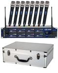 VocoPro UHF8800 8 Channel UHF Wireless Mic System with Case
