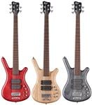 Warwick GPS Corvette Double Buck 5-String Bass Guitar with Gig Bag