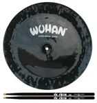Wuhan Black China Cymbal with Vic Firth Drum Sticks