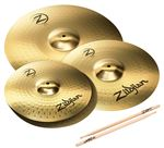 Zildjian PLZ4PK Planet Z 4 Pack 14 Hi Hats/16 Crash/20 Ride