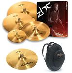 "Zildjian ZHT390 Value Added Cymbal Set with 15"" Fast Crash and Bag"