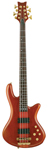 Schecter Stiletto Studio 8 String Electric Bass Guitar Honey Satin