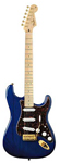 Fender Deluxe Players Strat Sapphire Blue Transparent with Gig Bag