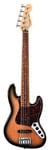 Fender Deluxe Active Jazz V 5 String Bass Brown Sunburst with Gig Bag