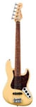 Fender Deluxe Active Jazz V 5 String Bass Vintage White with Gig Bag