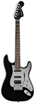Squier Black and Chrome Fat Stratocaster Electric Guitar