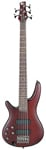 Ibanez SR505 5 String Lefty Electric Bass Guitar Brown Mahogany