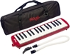 Stagg 32 Key Melodica with Gig Bag And Flexible Tube Mouthpiece Red