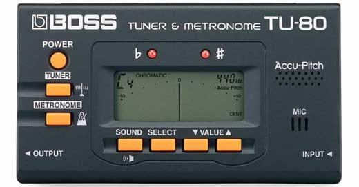 Boss TU80 Chromatic Guitar Tuner with Metronome