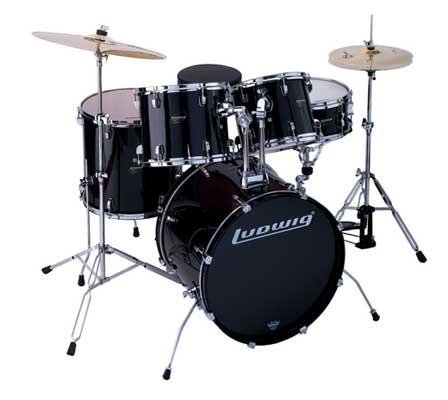 Ludwig LC125 Accent CS Combo Power 5 Piece Drum Set