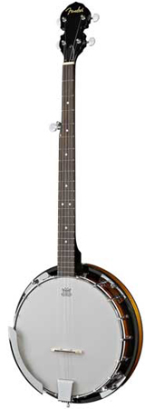 Fender FB300 5 String Banjo Package