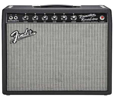 Fender '65 Princeton Reverb Guitar Combo Amplifier Black