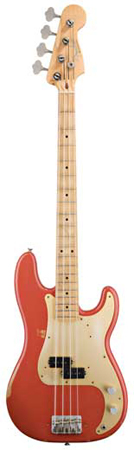 Fender Road Worn 50s Precision Electric Bass Guitar with Gigbag