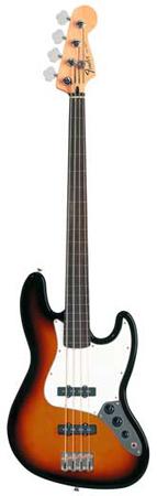 Fender Standard Upgrade Fretless Jazz Electric Bass Guitar with Gigbag