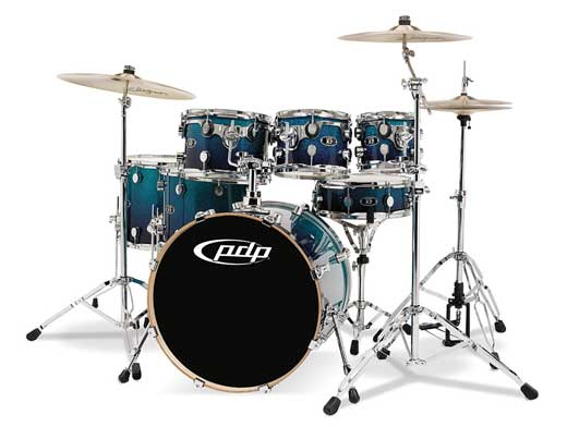 Pacific X7 Maple 7 Piece Lacquer Shell Kit Drum Set