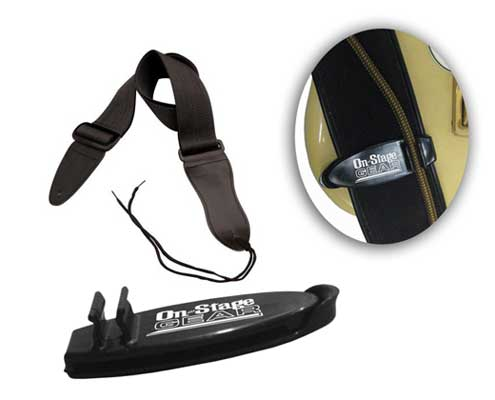 On Stage GSA10 Guitar Strap with Grip Clip